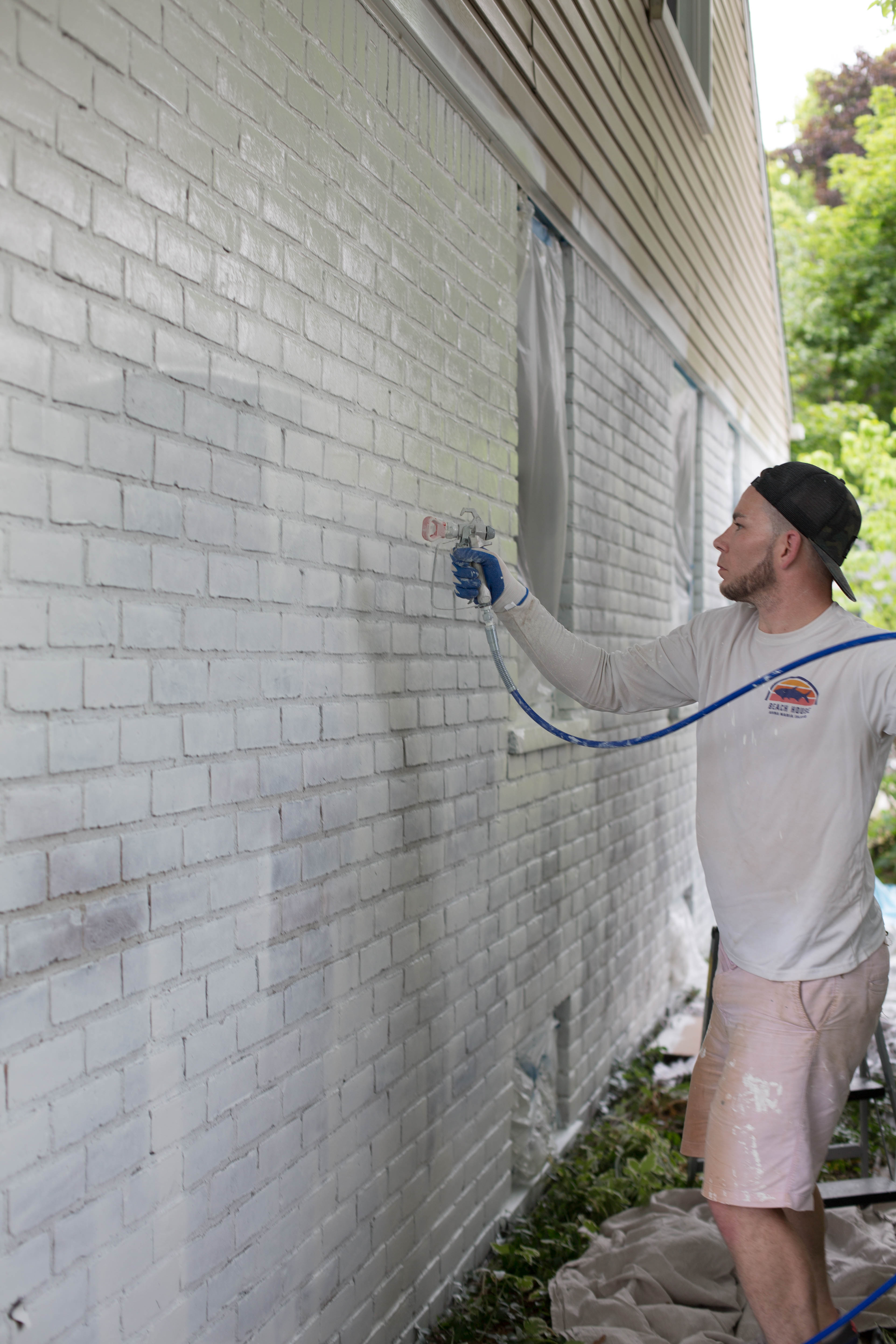 Curb Appeal Update How To Paint Brick And Vinyl Siding