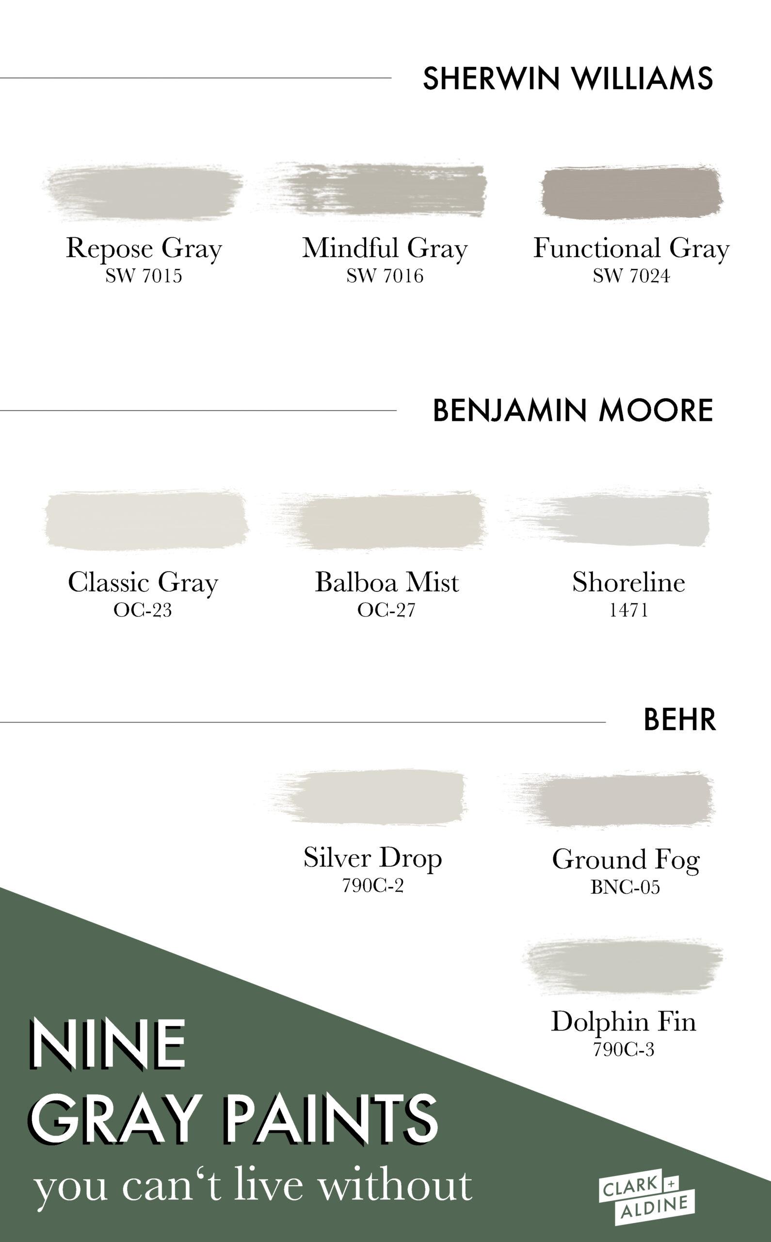 15 Shades Of Gray Paint Clark Aldine